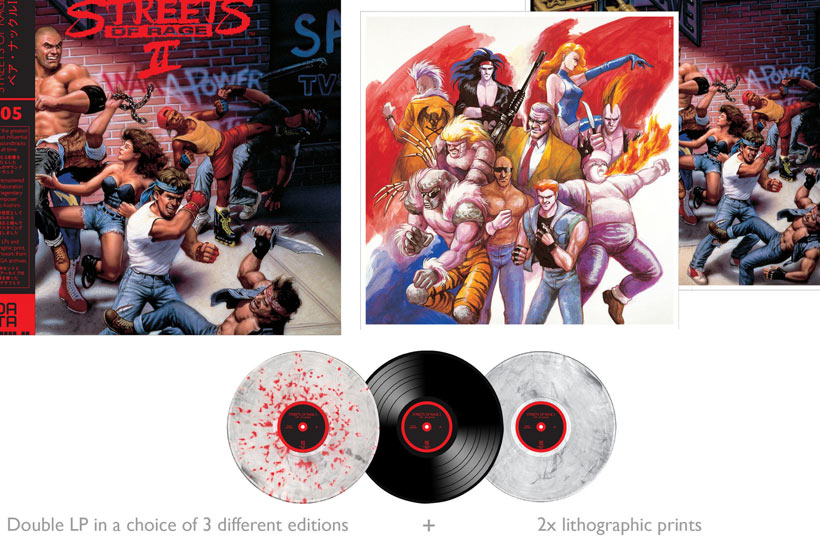 The full set included in the Streets of Rage 2 LP release