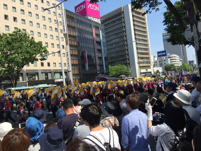 Aoba Matsuri in Sendai procession