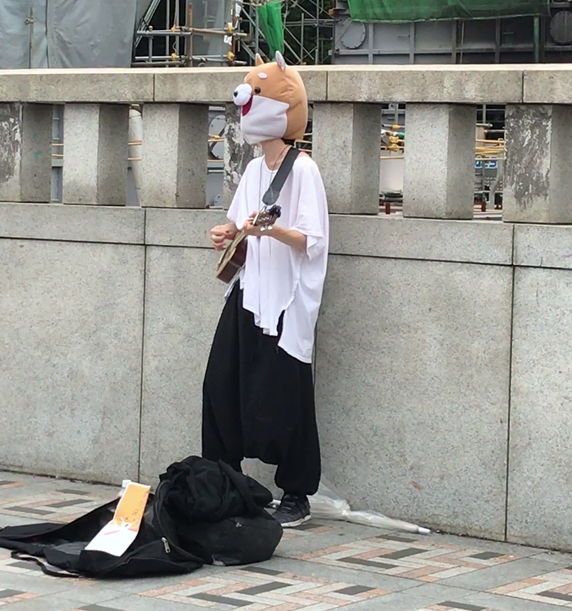 June 2019, UniSA Japan Study Tour, Harajuku Guitarist