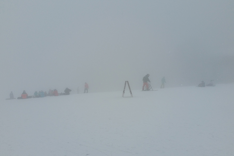 A White-out at the top of Happo-One in Hakuba