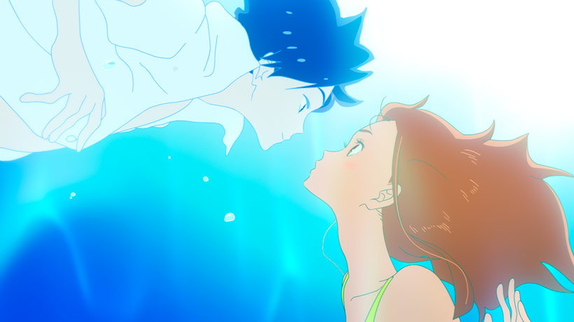 January 2021, Ride Your Wave, Hinako and Minato in the water