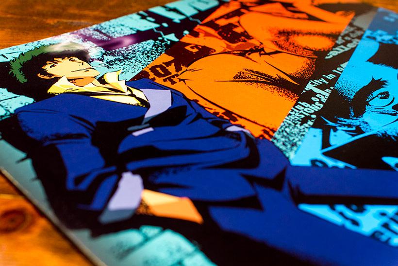 Cowboy Bebop Original Soundtrack vinyl, slip cover for Side A and Side B