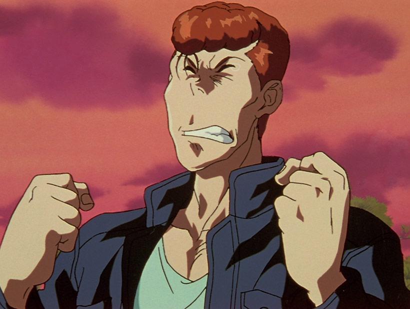 Yu Yu Hakusho Complete Season 4, Kuwabara tearing up in the final episode