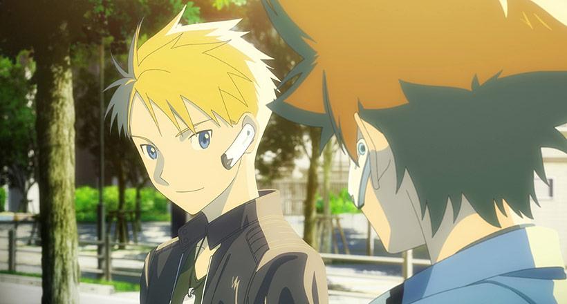 Digimon Adventure Last Evolution Kizuna, Taichi and Yamato after the first battle in Tokyo