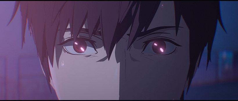 Human Lost, close-up of Yozo's eyes