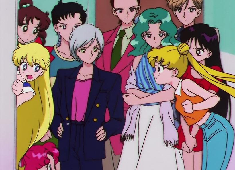 Sailor Moon Sailor Stars Part 2, the Inner Senshi, Outer Senshi and Starlights arguing