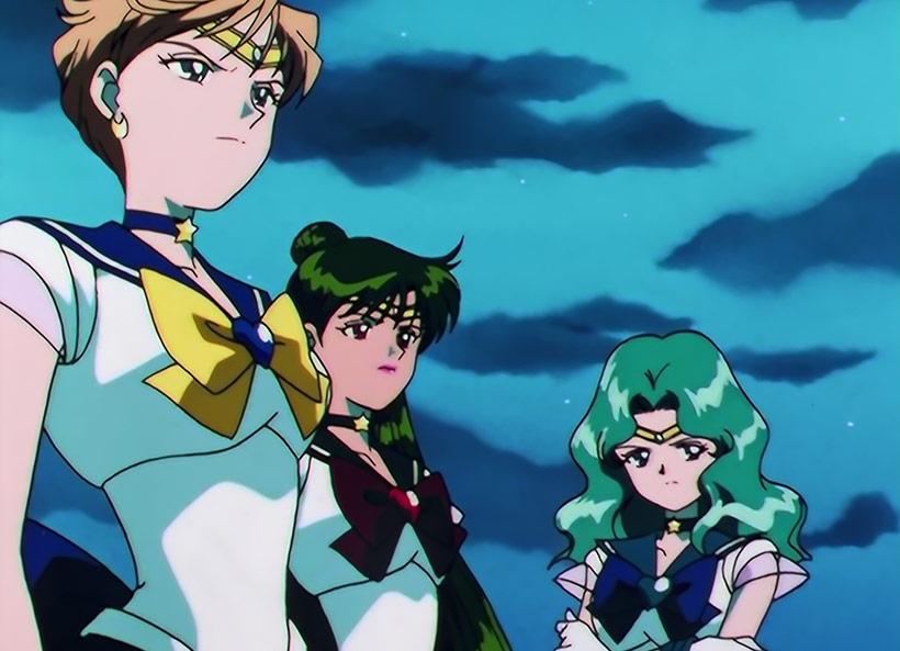 Sailor Moon Sailor Stars Part 2, Sailor Neptune, Sailor Pluto and Sailor Uranus