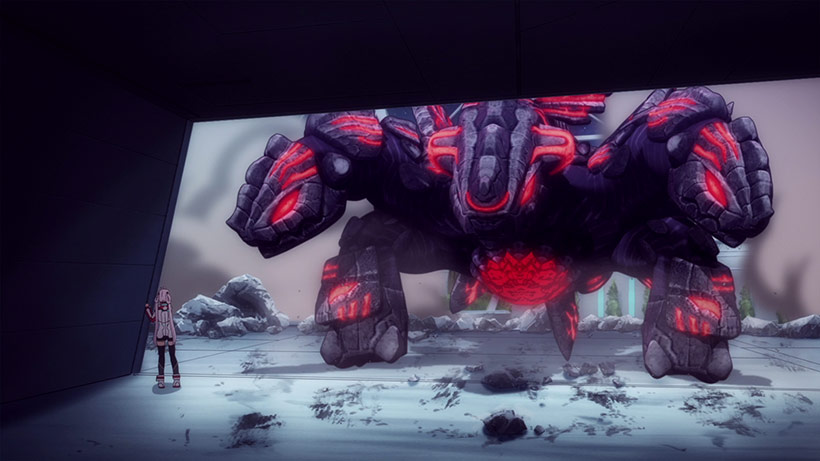 Phantasy Star Online 2: Episode Oracle Part 1, Falspawn attacking Matoi