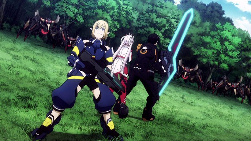 Phantasy Star Online 2: Episode Oracle Part 1, Ash, Afin and Matoi attack Falspwan